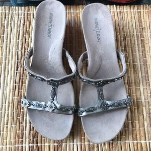 Minnetonka Wedge Sandals Size 10